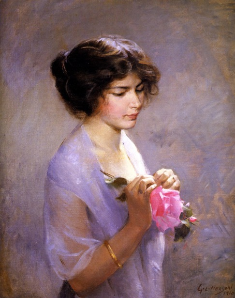 Young Lady With Rose