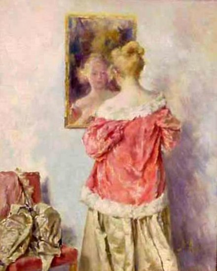 A Woman In A Red Robe