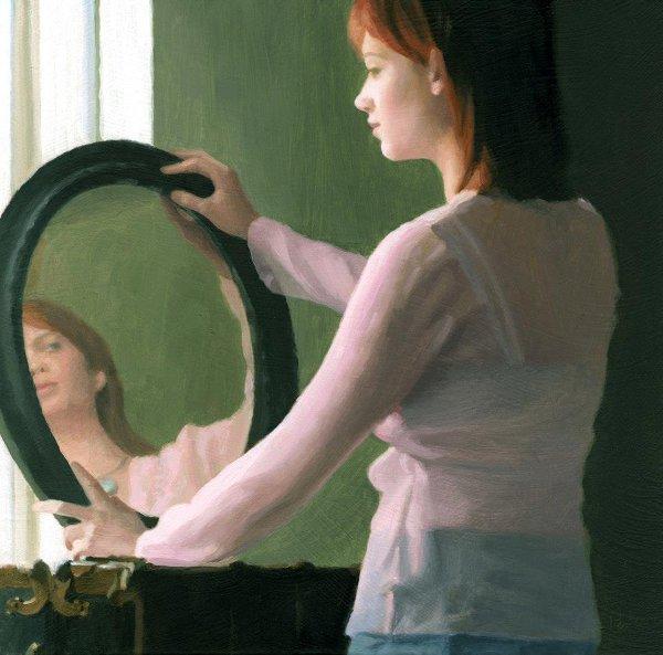 Ashley In Oval Mirror