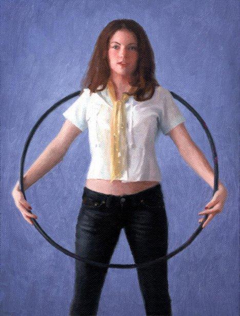 Clare In A Hoop