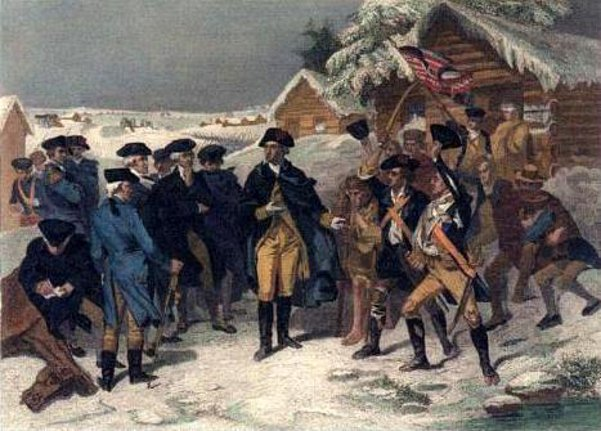 George Washington And The Committee Of Congress At Valley Forge