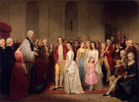 The Marriage Of Washington To Martha Custis