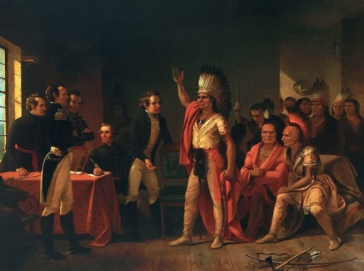 The Meeting Of Tecumseh And William Henry Harrison At Vincennes