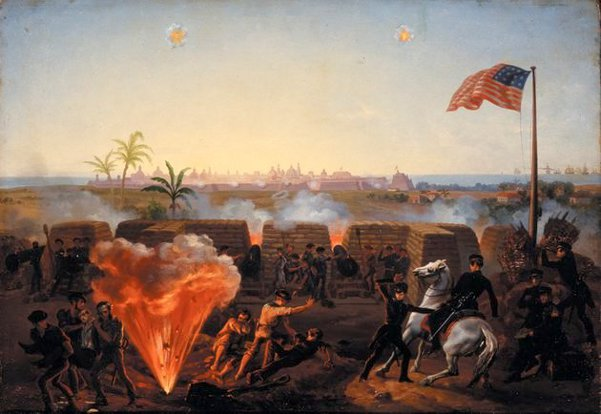 The Twenty-Day Siege Of The Mexican City Of Veracruz In March 1847