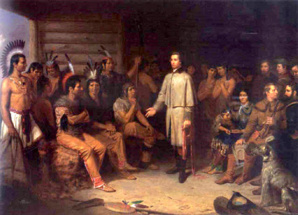 Washington And The Indians - Washington In The Indian Council