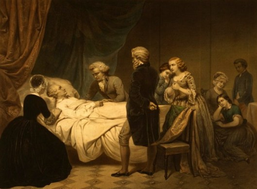 Washington On His Deathbed - The Christian Death
