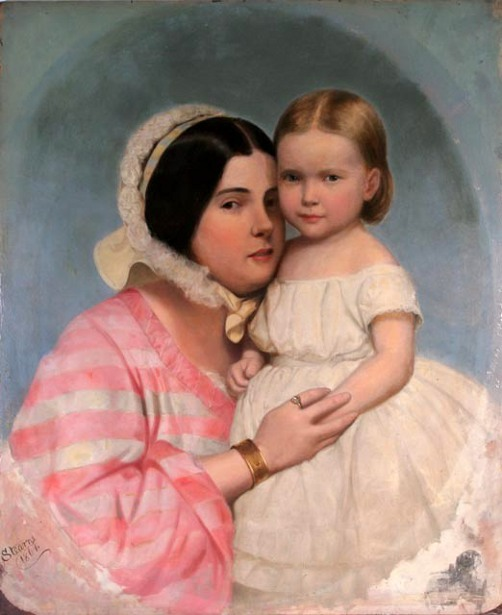 Wife And Daughter Of The Artist