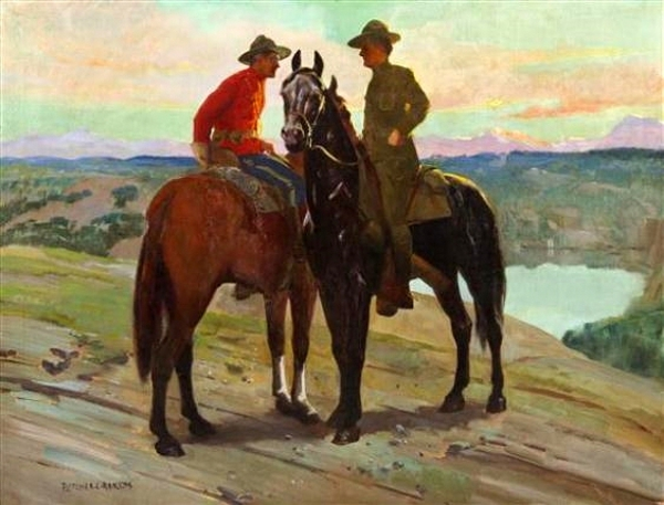 American And Canadian Cavalry Soldiers - A Century Of Peace