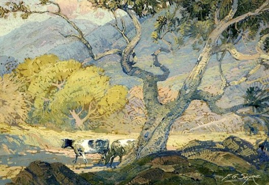 Cows In A Foothill Landscape