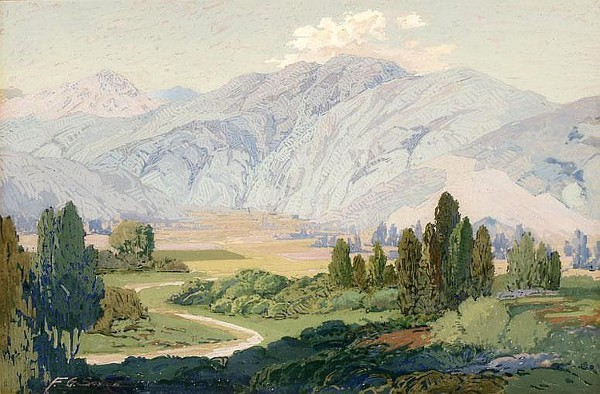 Mountains In A Valley View