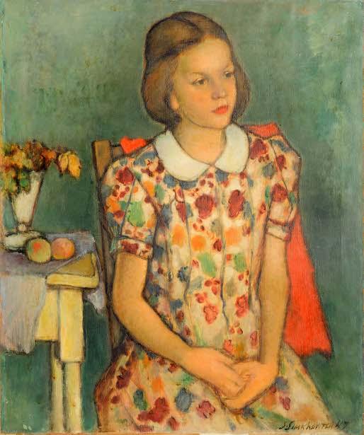 Girl In Figural Dress