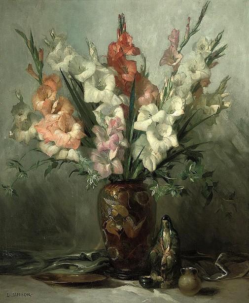 Gladioli In An Oriental Vase