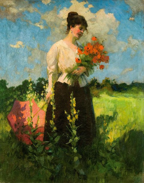 Lady With Poppies