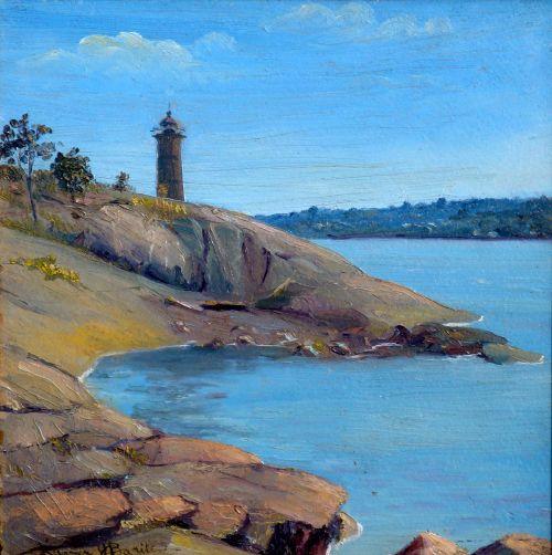 paulus hook lighthouse on the