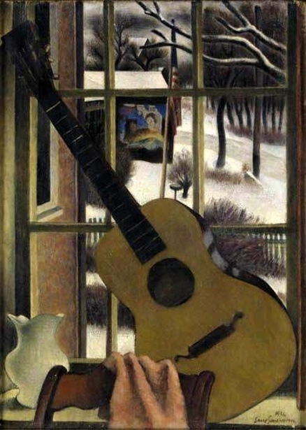 Window Still Life With Guitar
