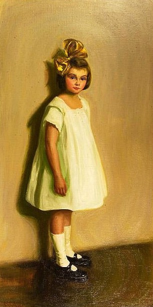 Young Girl With A Big Yellow Bow