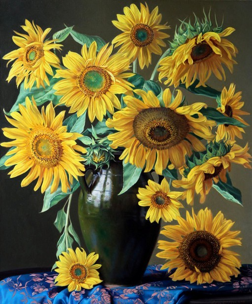 Sunflowers In A Moroccan Urn