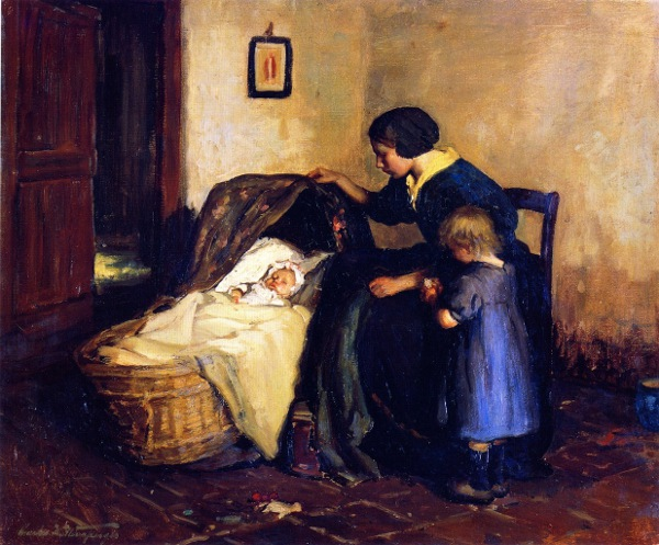 Interior With Mother And Child