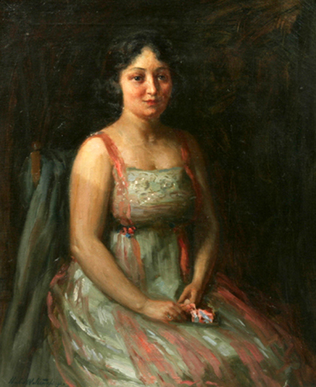 Seated Young Lady