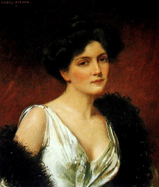 A Lady With Black Feathered Boa