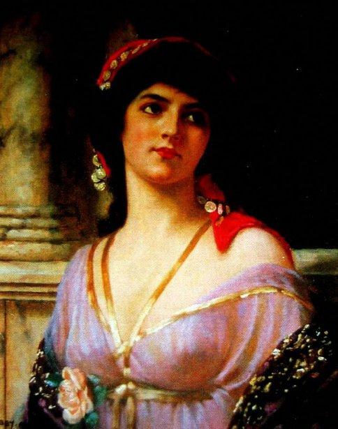 Girl In Grecian Robe