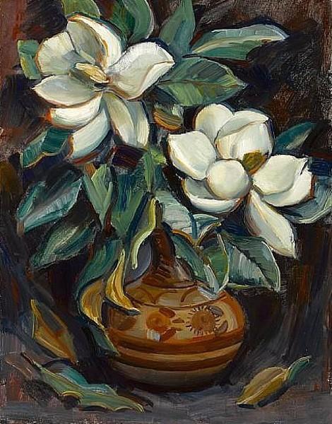 Magnolias In A Vase