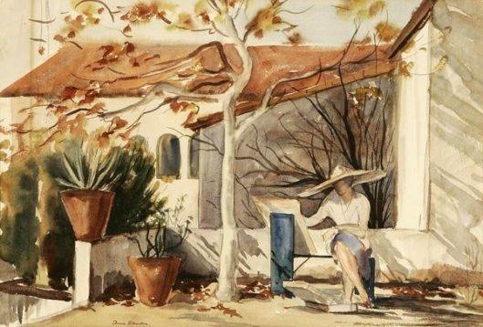 Painting On The Veranda