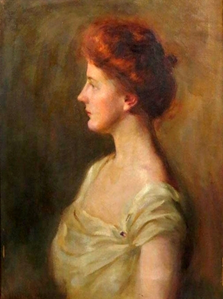 Profile Portrait Of A Woman In White