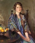 Seated Woman With Bowl Of Fruit