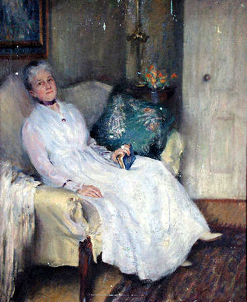 The Artist's Mother Resting In The Parlor (Mrs. Isaac Hills Hazelton)