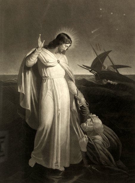 Christ Walking On The Sea (after Henry Richter)
