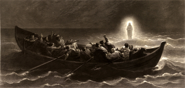 Christ Walking On The Water (after Charles Jalabert)