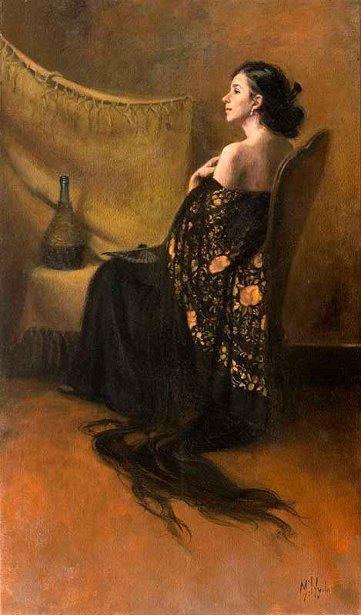 Daydream (Portrait With A Spanish Shawl)