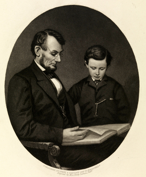 President Lincoln And Son