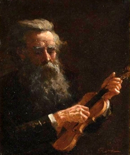 Bearded Man With Violin