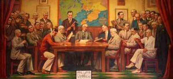 City Council In Session (mural at Gloucester City Hall)