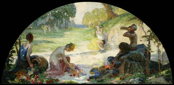 Figures In An Idyllic Landscape