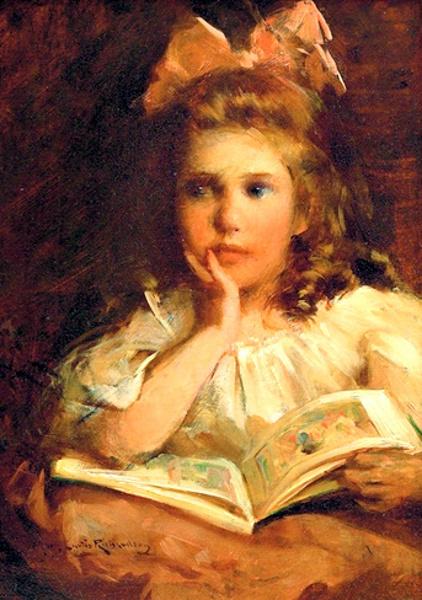 Zena na slikarskom platnu - Page 2 Reading-girl