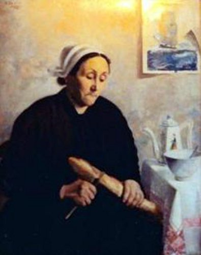 Madame Valiant - A Breton Woman With Loaf Of Bread