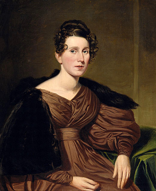 Victorian woman painting