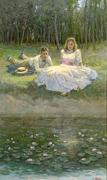 Lily Pond Scene
