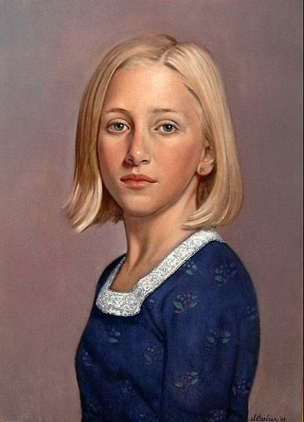 Portrait Of A Blonde Girl