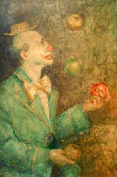 Clown Juggling Apples