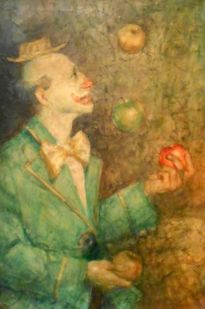 Clown Juggling Apples