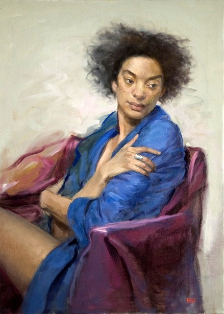 Woman In A Blue Robe