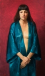 Woman In A Turquoise Robe