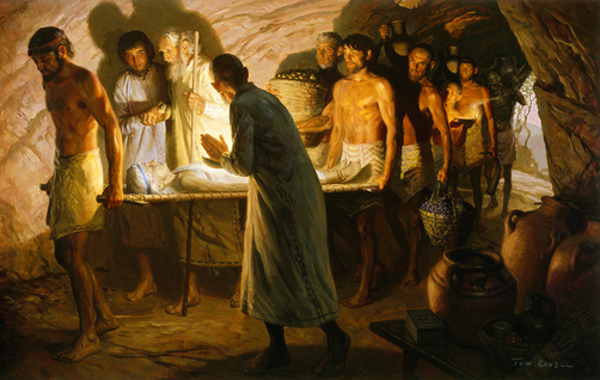 Abraham Walks Beside The Body Of Sarah Into A Cave Tomb