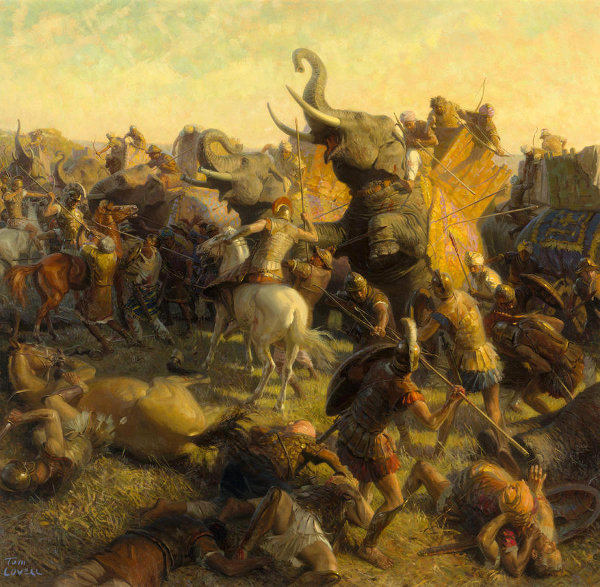 alexander the great and the battle Alexander the great: in june alexander fought his last great battle on the left bank of the hydaspes he founded two cities there, alexandria nicaea.