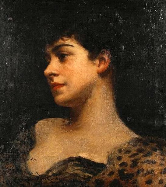 Bust Portrait Of Judy Fox - A Bacchante