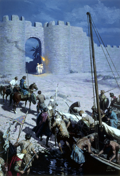 Byzantine Soldiers Sneaking Into Walled City Of Nicaea